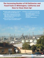 The Increasing Burden of Oil Refineries and Fossil Fuels in ...