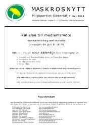 MAS K R O S N Y T T - Miljöpartiet de gröna
