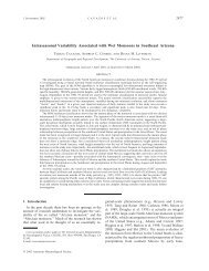 Intraseasonal Variability Associated with Wet Monsoons in ...