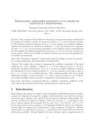 Estimation améliorée explicite d'un degré de confiance conditionnel ...