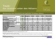 Der Diamant unter den Hölzern - Teak Austria