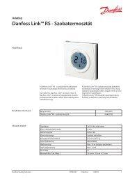 Danfoss Link™ RS - Szobatermosztát