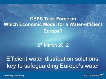 Efficient water distribution solutions, key to safeguarding Europe's ...