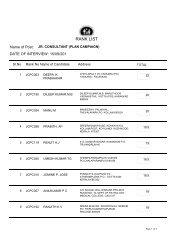 JCPC Rank list for web 15-09-11