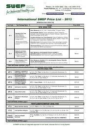 2013 International Price list (PDF) - Swep