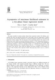Journal of Statistical Planning and Inference 108 - Department of ...