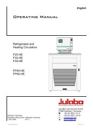 EN Julabo Thermostat Manual - VTP UP