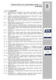 Publikace Ústavu pro soudobé dějiny AV ČR, v.v.i. 1990-2009