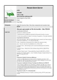 REUNIÃO GRUPO GESTOR - Biblioteca/Centro de Informação e ...