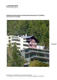 Eigentumswohnungen mit Panorama-Aussicht in St. Moritz