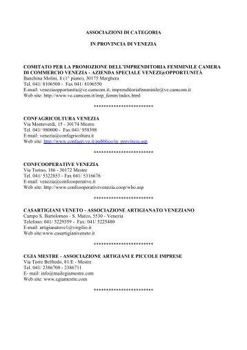 Elenco - Pari Opportunità in Provincia di Venezia