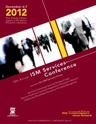 13th Annual ISM Services Conference Brochure - Institute for Supply ...