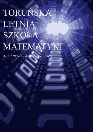 Booklet for TLSM09 - Wydział Matematyki i Informatyki - Uniwersytet ...