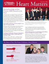 November 2009 - Minneapolis Heart Institute Foundation
