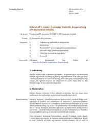 Referat - Danmarks Statistik