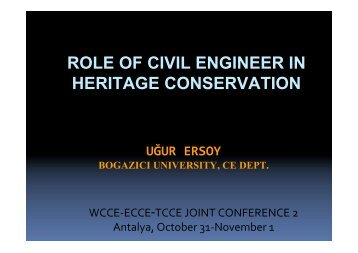 Role of Civil Engineer in Heritage Conservation