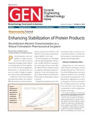 GEN, Volume 30, Number 17, October 2010 - Novozymes Biopharma