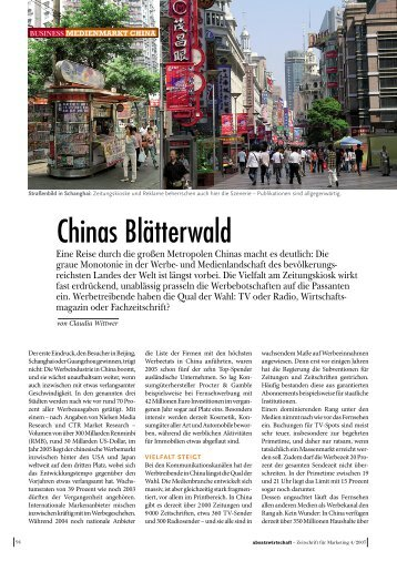 Chinas Blätterwald - mf-consulting