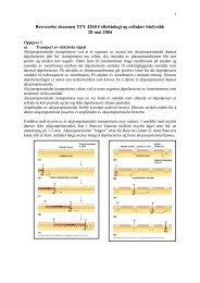Besvarelse eksamen SIF4070 Cellebiologi