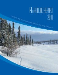2010 Annual Report - Institute for Environmental Monitoring and ...