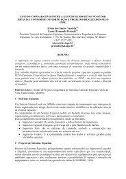 estudo comparativo entre a gestão de projetos ... - mtc-m19:80 - Inpe