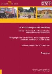 16. Hochschultage Berufliche Bildung Übergänge - Logo ...