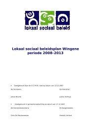 Lokaal sociaal beleidsplan Wingene periode 2008 ... - Vlaanderen.be