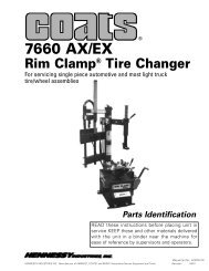 7660 AX/EX Rim Clamp® Tire Changer - aesco