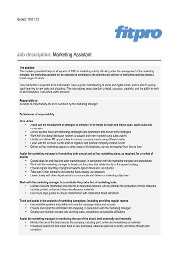 MarketingEvents Intern  Fall  Job Description  The