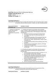 Business Plan for Enterprise Start-up - Association of Business ...