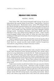SEJARAH SUKU SUNDA - SAAT
