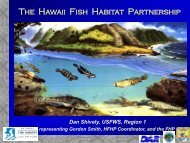 Estuaries in Hawaii - National Fish Habitat Partnership