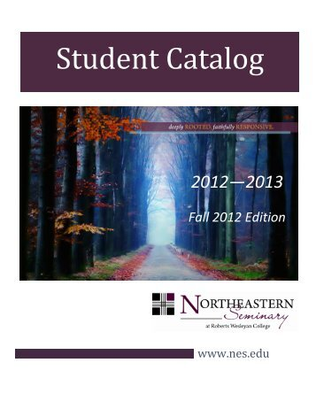Student Catalog - Northeastern Seminary