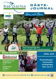 Gästejournal April 2013 (PDF) - Samtgemeinde Walkenried
