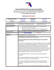 FHAAN Advocacy Committee Meeting Notes - The AIDS Institute