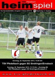 3. Heft gegen SG Sindringen/Ernsbach / SG ... - TSV Pfedelbach
