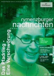 H artrecherchiert - Rituale und Traditionen - Pfadi Rymenzburg
