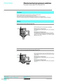 Electromechanical pressure switches 4 - Trinet