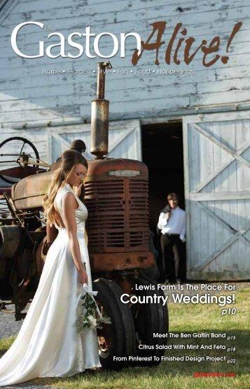 Country Weddings! - Gaston Alive Magazine