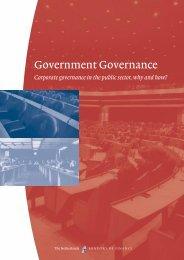 Government Governance - European Corporate Governance Institute