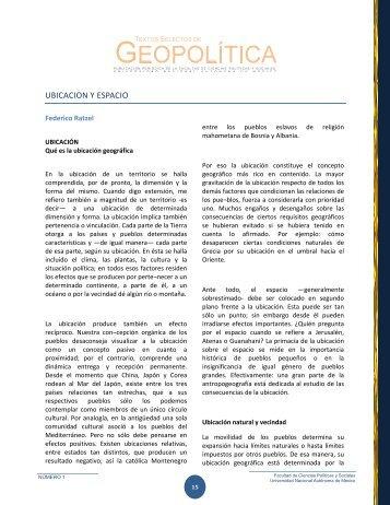 ubicacion y espacio - Centro de Investigación e Información Digital