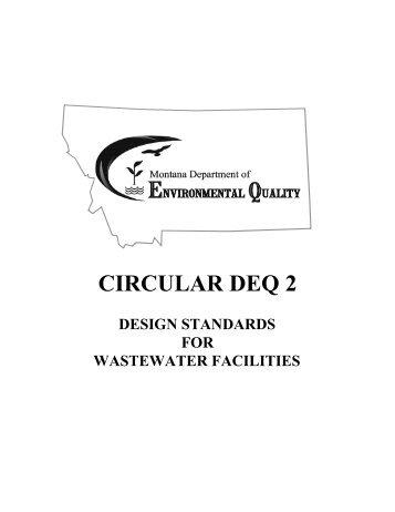 Montana DEQ - Circular DEQ 2 - Design Standards for ... - Force Flow