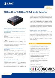 100Base-FX to 10/100Base-TX PoE Media Converter