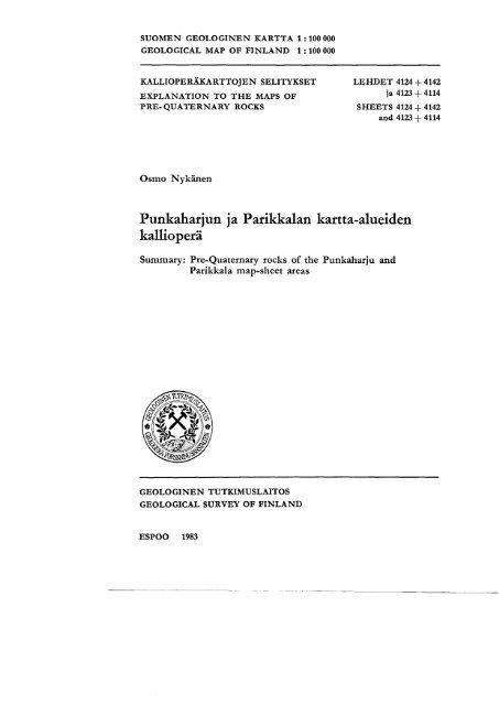 Punkaharjun Ja Parikkalan Kartta Alueiden Kalliopera
