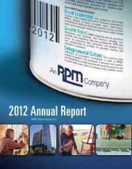 RPM 2012 Annual Report