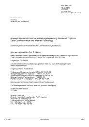 Auswertungsbericht Lehrveranstaltungsbewertung Advanced Topics ...