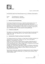 Protokoll der ordentlichen Generalversammlung ... - Solothurn Tennis