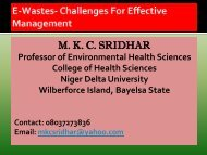 E-waste - Lagos State Environmental Protection Agency...Welcome