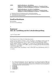 Reglement Kauffrau/Kaufmann