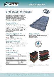 MetroBond® Takpanner - coBuilder